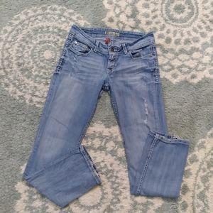 BKE Sabrina distressed jeans